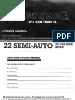 Browning 22 Semiauto