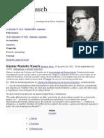 Günter Rodolfo Kusch - Biografía