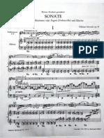 O. Schoeck - Bass Clarinet Sonata, Op.41 - 1st Mov. - Piano