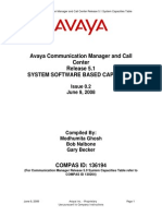 System Capacities Table  for CM5.1