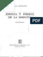 SCHELER, Max - Esencia y Formas de La Simpatia