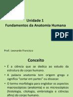 Unidade 1 Fundamentos Da Anatomia Humana- Prof Leonardo Francisco
