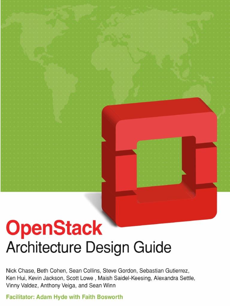 Openstack Architecture Design Guide Pdf Open Stack Cloud Computing