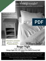 burger night flyer