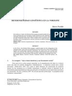 Heterogeneidad Lingüística en La Vorágine