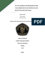 Proposal presepsi penggelapan pajak