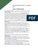 Sap Fico Interview Question Logistic Invoice Verification