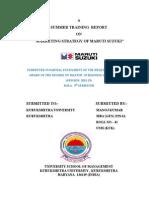 Marketing Strategy of Maruti Report
