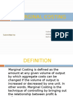 Marginal Costing Roll No 31