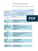 Fungsi Menu Toolbar Pada Ms. Excel 2007