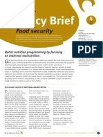POLICYBRIEF FOUR June2013 Web, Malnutrition