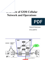 Overview of GSM Cellular Network and Operations