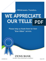 Copy for Company-wide Teller Appreciation Week