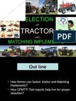 Selection of Tractor