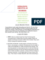 Operations Lean Production Group 10