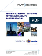 Technical Report - Offshore Petroleum Facility Accommodation