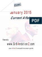 January 2015 Current Affairs Gr8AmbitionZ