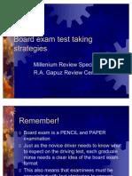 Board Exam Test Taking Strategies