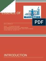 Essence of Marketing