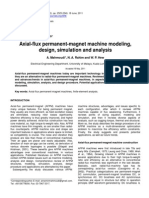 Axial-flux Axial-flux Permanent-magnet Machine Modeling,Permanent-magnet Machine Modeling,