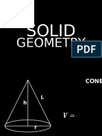 Solid Geometry (Formulas)