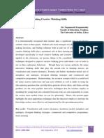 Teaching Creative Thinking Skills-Full Paper
