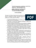 Fepra - Conclusiones de La Primera Jornada Nacional de Psicologia Del Tránsito (2004)