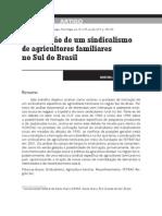 Everton Picolotto - A Formação de Um Sindicalismo de Agricultores Familiares No Sul Do Br, SOCIOLOGIAS, 2014