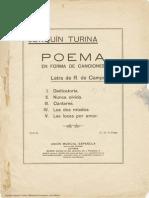 Poema en forma de canciones. Joaquín Turina