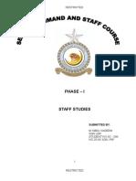 STAFF STUDIES SC & SC PHASE -I SQN LDR IQBAL NADEEM (2).doc