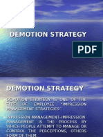 Demotion Strategy