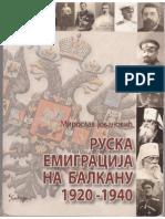 Miroslav Jovanović - Ruska emigracija na Balkanu 1920-1940