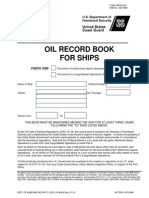Oil Record Book
