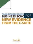 Teaching Strategic Communication in Business Schools Report