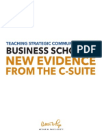 Teaching Strategic Communication in Business Schools Report