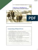 BMGT531 Week01 CH01 DSS BusinessIntelligence