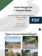 06_Design Low Volume Roads_John Duval_IAC 2013