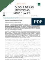 Guia Psicología de Las Diferencias Individuales