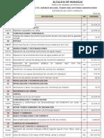 Alcances de Obras y Presupuesto Avenida Bolivar