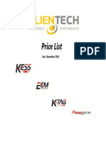 Alientech Price List
