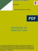 INGENIERÍA de Manufactura Diapositivas