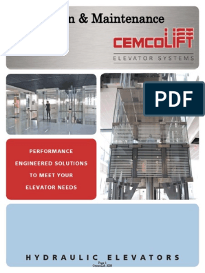 Cemcolift IM Manual | Elevator | Motor Oil
