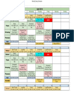 Monthly Study Schedule