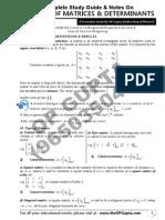 Matrices Determinants