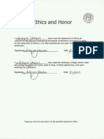 ethics and honor form