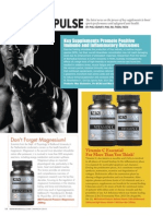 """""""SCIENCE PULSE""""  MARCH 2015 MAX SPORTS & FITNESS MAGAZINE"""