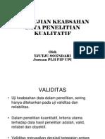 Pengujian Data Kulaitatif