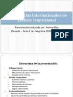 Experiencias Internacionales de Justicia Transicional