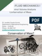 Fluid Mechanics Chapter 5-Conservation of Mass