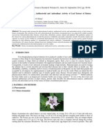 Phytochemical Analysis Antibacterial and Antioxidant Activity of Leaf Extract of Datura Stramonium